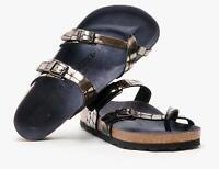 Birkenstock MAYARI 1016040 (Reg) Ladies Cross Strap Sandals Gator Gleam Black