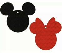 Disney Kitchen Mickey & Minnie Mouse Silicone Trivet Red Black Hot Pad