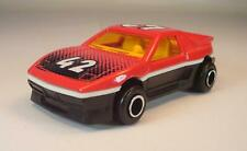 Majorette 1/55 Nr. 206 Pontiac Fiero Coupe schwarz/rot #1024