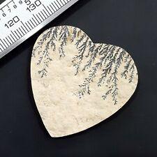 German Dendrite Polished Stone Heart Shape Loose Gemstone Use For Jewelry