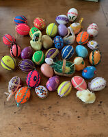 Huge lot of 30 Vintage Handmade Eggs Beaded Pins Sequins & Misc. Easter Decor