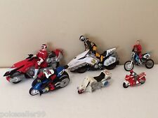 Lot of 6 Toy Motorcycles, Motorcycle Play Set and Figures