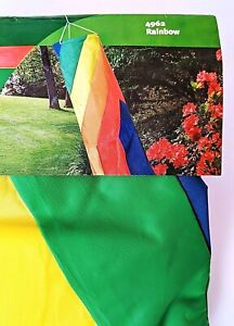 """Rainbow Spiral 60"""" x 8"""" Colorful Windsock by WindDesigns. Durable.Swivel to Hang"""