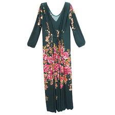 Peasant Boho Hippie V-Neck Long Sleeve Kaftan Evening Cocktail Maxi Dress  Y0022