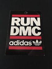 Vintage Unused Adidas Run Dmc Hang Tag Rare