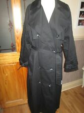 NEXT Outerwear Black Raincoat Mac Belted Coat Sz 16 Regular & Tags