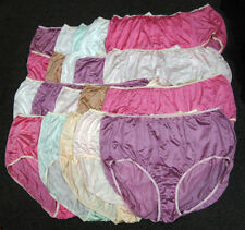 20 pairs UNISEX NAME BRAND 100% NYLON full size BRIEF PANTY Size - 14 Mix Colors