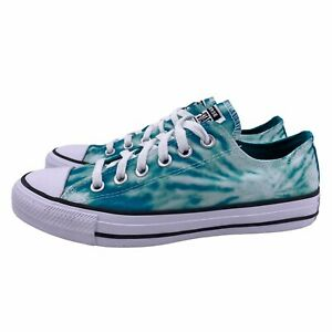 Converse Chuck Taylor All Star Tie Dye Blue Green Low Top Lo Sneakers Womens 9.5