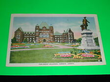 Parliament Buildings in Color,Toronto Ontario Canada Postcard