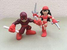MARVEL SUPER HERO SQUAD DAREDEVIL & ELEKTRA FIGURES
