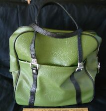 Vintage Green Travel Master Luggage Bag, Carry On Tote by Sears Roebuck