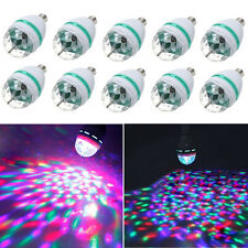 10X E27 3W RGB Rotating LED Crystal Magic Ball Bulb Stage Lighting for DJ Party