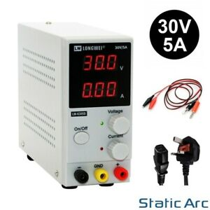 ADJUSTABLE POWER SUPPLY 30V 5A SWITCHING DC DIGITAL LED PRECISION LAB VARIABLE