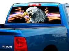 P424 Eagle Lightning Rear Window Tint Graphic Decal Wrap Back Truck Tailgate