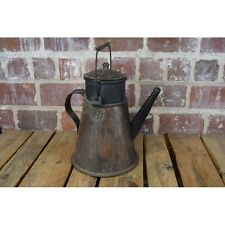 "Old Hand Forged Copper Kettle Pitcher 13 1/2"" Tall"