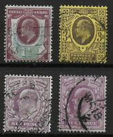 KEVII-1&1/2d..3d.,and 6d.(2 Shades). Fine Used-Good Condition.  Ref.0851