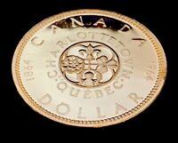 1964 $1.00 Canada Silver Proof Like Dollar .800 Silver • UNC