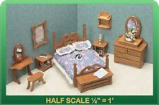 Bedroom Dollhouse Furniture Kit - 1/24 Scale by Greenleaf Dollhouses