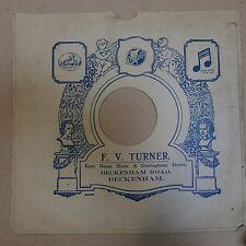 "12"" 78rpm gramophone record sleeve F V TURNER beckenham rd"