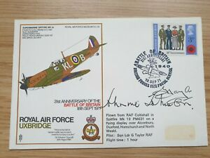 BATTLE OF BRITAIN SIGNED FIRST DAY COVER BY JOHNNIE JOHNSON FLYING ACE