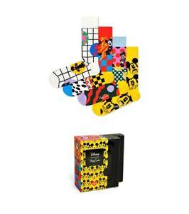 HAPPY SOCKS 4 pack Disney Gift Box (UK Size 7.5-11.5) Mickey mini Mouse