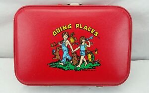 Vtg Children's Luggage- Red Going Places