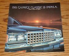 Original 1981 Chevrolet Caprice Classic & Impala Sales Brochure 81 Chevy