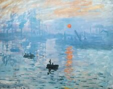 Claude Monet Impression Sunrise Poster Kunstdruck Bild 90x120cm
