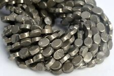 """8x6MM Copper Pyrite Flat Oval Grade AAA Natural Gemstone Loose Beads 7.5"""""""