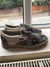Vans Vintage Espadrille Shoes Uk 9 Excellent Condition !!!
