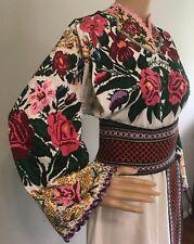 Ukrainian Vyshyvanka Hand Embroidered Shirt Dress Women Vintage Sorochka Beaded