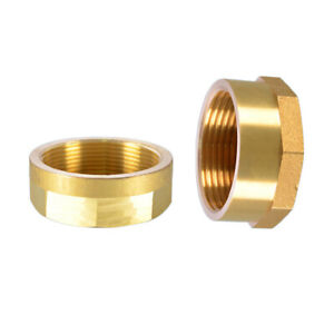 Brass Bsp Female Blanking Cap Stop End Lock Cap For Mechanical Industry Pipeline