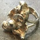 Vintage Sterling Silver Nugget/Modernist Ring-size 3.5-3.75