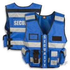 TACTICAL SECURITY DUTY PATROL VEST BLUE SIA INDUSTRY DOOR STAFF