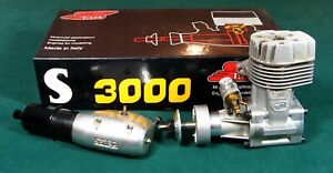 SUPER TIGRE S 3000 RC MODEL AIRPLANE ENGINE WITH J-TEC MUFFLER EXCELLENT IN BOX