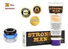 STRONGMAN crema alargador de pene + 3 anillo apto durex preservativos condones