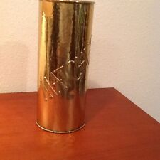 Vintage Fireplace Match Holder Brass Look 1970s Lombard Of England Metal