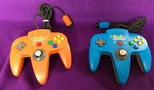 Pikachu Pokemon Controller Nintendo 64 Game Orange Blue N64 Tested Works Used