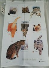 Cats Tea Towel - Heads or Tails