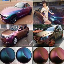 Bubbles Free Car Magic 3D Carbon Fiber Chameleon Vinyl Wrap Sticker Stretch US