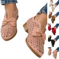 Damen Loafers Slip on Aush?hlen Office Work Flache Schuhe Freizeit Halbschuhe