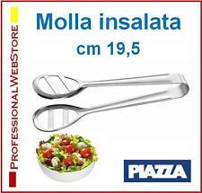 MOLLA INSALATA PINZA INSALATE SERVIRE SERVIZIO TAVOLA PINZE in ACCIAIO cm 19,5