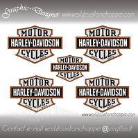 5 ADESIVI STICKERS BAR AND SHIELD MOTO CUSTOM-CASCO  HARLEY DAVIDSON