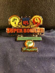 NFL Super Bowl VII Miami Dolphins Championship Pin (New/Unused)