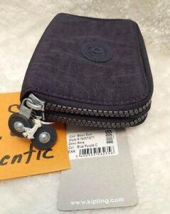 Genuine KIPLING Abra Premium 2 Zips Wallet Purse K16057G71 in Blue Purple C