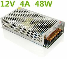 DC12V 4A  48W LED Driver Strip Lighting Transformers Power Supply AC 110V/220V