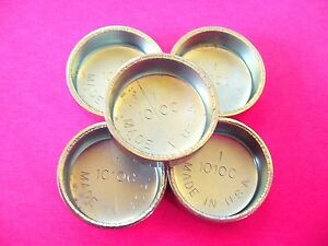 """Fits GM 5pk 1"""" Freeze Expansion Plugs Zinc Plated Steel Engine Cylinder NOS"""
