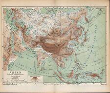 Landkarte map 1874: ASIEN. Indien Tibet Afganistan Mongolei Himalaja