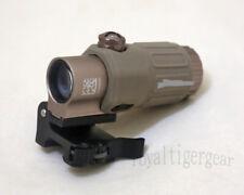 G33 G33T 3X Magnification Rifle Scope with Folding Flip Rail Mount - Dark Earth