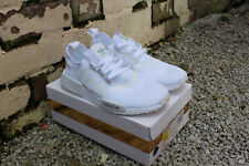 Adidas NMD R1, Triple White, Men's UK Size 9